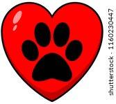 paw print heart   a vector...   Shutterstock .eps vector #1160230447