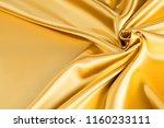 smooth elegant golden silk or... | Shutterstock . vector #1160233111