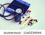 medical concept. blood pressure ... | Shutterstock . vector #1160234044