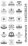 camping logos templates vector... | Shutterstock .eps vector #1160238124