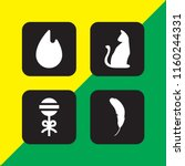 4 Night Icons In Vector Set....