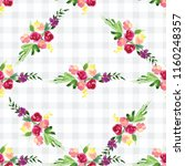 hand painted watercolor pattern ... | Shutterstock . vector #1160248357