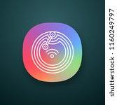 nfc microchip app icon. near...