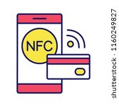 nfc technology color icon. near ...   Shutterstock .eps vector #1160249827