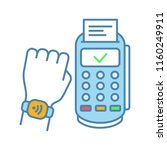 nfc smartwatch color icon. near ... | Shutterstock .eps vector #1160249911
