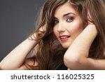 close up portrait of beautiful... | Shutterstock . vector #116025325