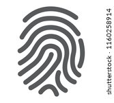 cryptographic signature glyph... | Shutterstock .eps vector #1160258914