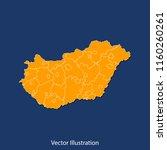 hungary map   high detailed...   Shutterstock .eps vector #1160260261