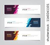 vector abstract web banner... | Shutterstock .eps vector #1160261101