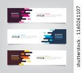 vector abstract web banner... | Shutterstock .eps vector #1160261107