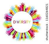 diversity concept design  hands ... | Shutterstock .eps vector #1160264821