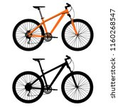 pair of bicycles. vector... | Shutterstock .eps vector #1160268547