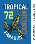 cancun tropical paradise t... | Shutterstock .eps vector #1160271781