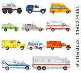 emergency vehicle vector... | Shutterstock .eps vector #1160274361
