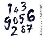 element  set of ten numbers... | Shutterstock .eps vector #1160275861