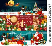 christmas holiday banner of... | Shutterstock .eps vector #1160283067