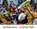 typical bavarian musician in... | Shutterstock . vector #1160287504
