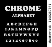 chrome alphabet font. metal... | Shutterstock . vector #1160287891