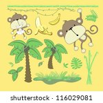 vector image of jungle theme ... | Shutterstock .eps vector #116029081