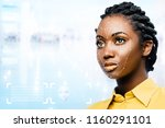 close up portrait of attractive ...   Shutterstock . vector #1160291101