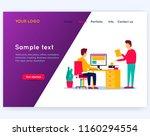 office life  teamwork  business ... | Shutterstock .eps vector #1160294554