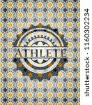 athlete arabesque emblem...   Shutterstock .eps vector #1160302234
