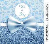 it's a boy baby shower cute... | Shutterstock .eps vector #1160303647