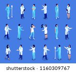 a large set of isometric... | Shutterstock .eps vector #1160309767