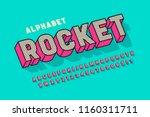 comic 3d display font design ... | Shutterstock .eps vector #1160311711