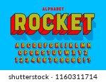 comic 3d display font design ... | Shutterstock .eps vector #1160311714