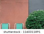 old factory gate with 2 seats...   Shutterstock . vector #1160311891