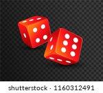 dice vector design isolated....   Shutterstock .eps vector #1160312491
