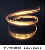 golden glowing shiny spiral... | Shutterstock .eps vector #1160316031