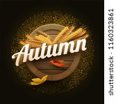 vector autumn signboard... | Shutterstock .eps vector #1160323861