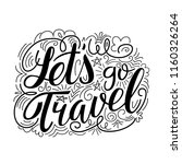hand drawn lettering. doodle.... | Shutterstock .eps vector #1160326264