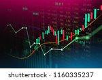 stock market  trading graph in... | Shutterstock . vector #1160335237
