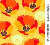 floral seamless pattern. vector ... | Shutterstock .eps vector #1160340097