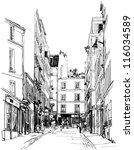 vector illustration of a street ... | Shutterstock .eps vector #116034589