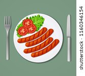 food icon. vector illustration. ... | Shutterstock .eps vector #1160346154