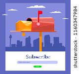 email subscribe  online...   Shutterstock .eps vector #1160347984