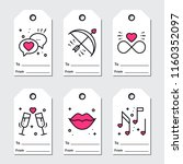 st valentine's day gift tags.... | Shutterstock .eps vector #1160352097
