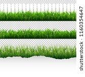 grass border big set  | Shutterstock . vector #1160354647