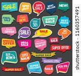 sale stickers and tags colorful ... | Shutterstock .eps vector #1160357491