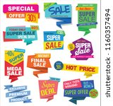 sale stickers and tags colorful ... | Shutterstock .eps vector #1160357494