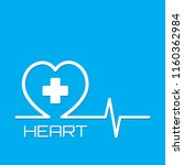 heart medical and healthcare... | Shutterstock .eps vector #1160362984