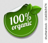 100  organic product label... | Shutterstock .eps vector #1160365474