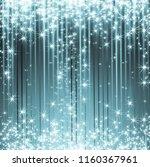 snowflakes and stars descending ... | Shutterstock . vector #1160367961