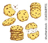 sketch colorful sketch cookies... | Shutterstock .eps vector #1160368951
