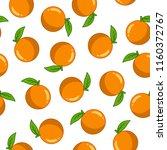 seamless pattern with orange | Shutterstock .eps vector #1160372767