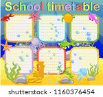 design of the school timetable... | Shutterstock .eps vector #1160376454